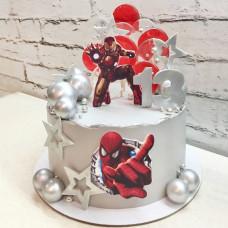 Торт Железный человек и Человек паук