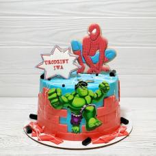 Торт Человек паук и Халк