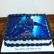 Торт Черна пантера без мастики