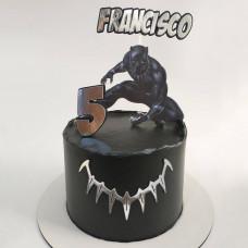 Торт Черная пантера Марвел
