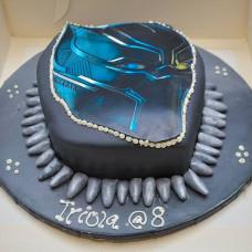 Торт в виде Черной пантеры