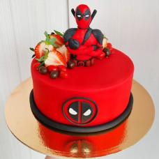 Торт с фигуркой Дэдпула