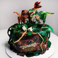 Торт с динозаврами из Джуманджи