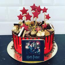 Торт в стиле Гарри Поттера для девочки