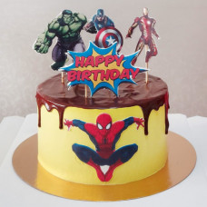 Торт на 6 лет мальчику Халк