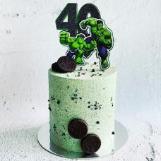 Торт большой и маленький Халк