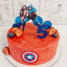 Торт с Капитаном Америкой