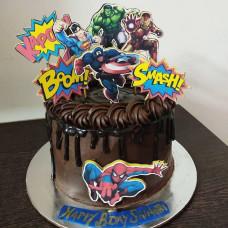 Торт Капитан Америка без мастики