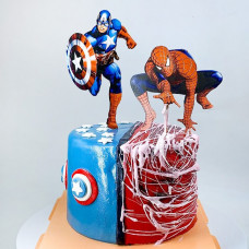 Торт Капитан Америка и Спайдермен
