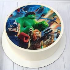 Торт Марвел Лего