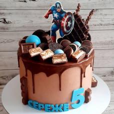 Торт Капитан Америка для мальчика