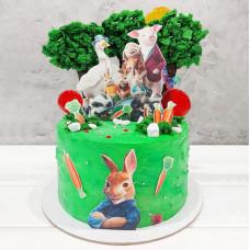 Торт для девочки с кроликом Питером