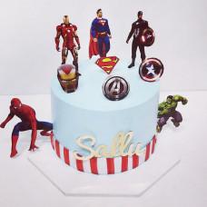 Торт с мстителями для мальчика