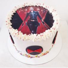 Торт Мстители Черная вдова