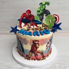 Торт Мстители без мастики