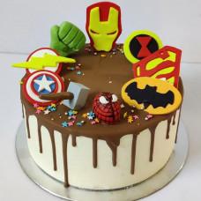 Торт на день рождения Мстители