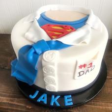Торт рубашка Супермена