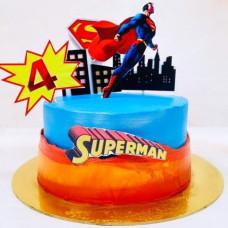 Торт супермен на 4 годика