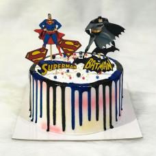 Торт Супермен и Бэтмен