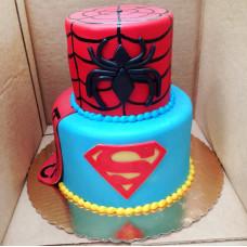Торт Супермен и Спайдермен