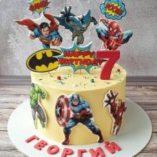 Торт с разными героями