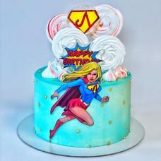 Торт супер женщина