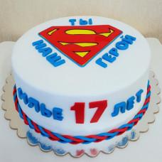 Торт Супермен на день рождения
