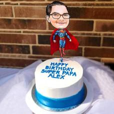 Торт папа Супермен