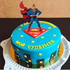 Торт Супермен для мужчины