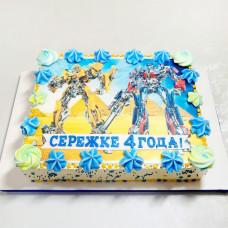 Кремовый торт Трансформеры