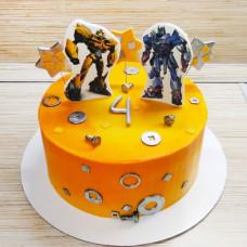 Торт трансформер желтый