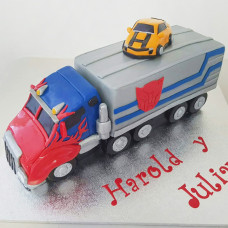 Торт грузовик Оптимус Прайм