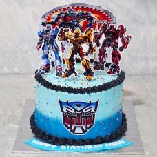Торт в стиле трансформеров