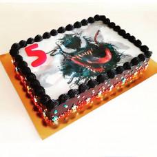 Прямоугольный торт Веном