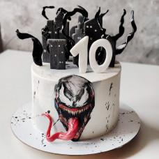Торт Веном на 10 лет