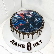 Торт с Человеком пауком и Веномом