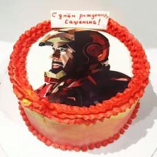 Кремовый торт Железный человек