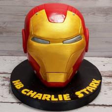 Торт голова железного человека