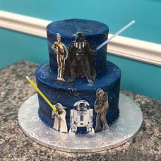 Торт двухъярусный Звездные войны