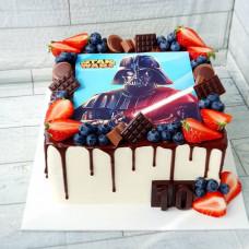 Торт Звездные войны без мастики