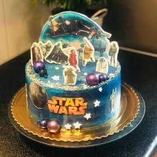 Торт с героями из фильма Звездные войны