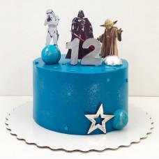 Торт Звездные войны на 12 лет