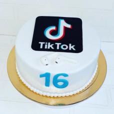 Торт наушники Эппл и ТикТок на ДР