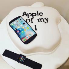 Торт для фаната Apple