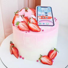 Торт айфон без мастики
