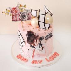 Торт зеркальный фотоаппарат