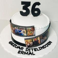 Торт с кинолентой