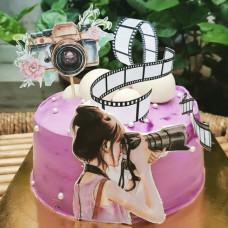 Торт фотоаппарат девушке
