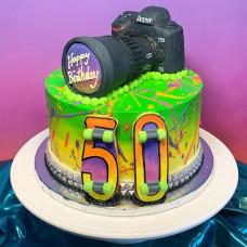 Торт в форме фотоаппарата