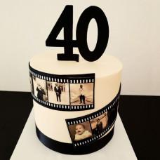 Торт кинолента с фотографиями